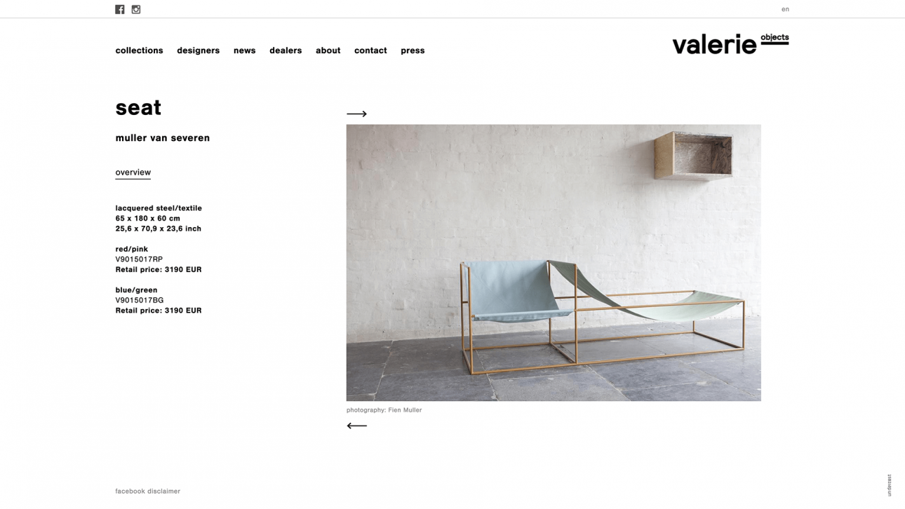 valerieobjects-website