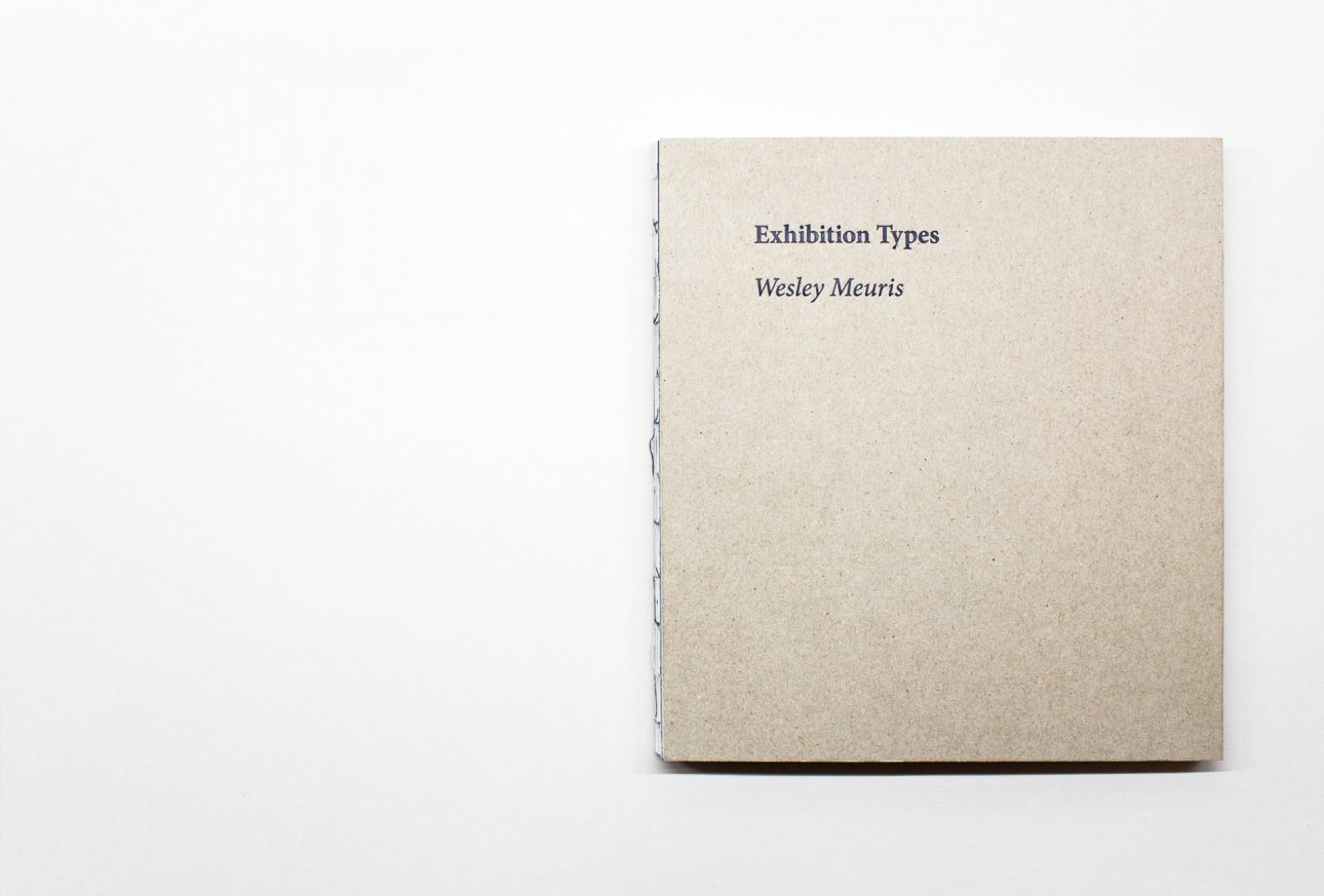 Wesley Meuris Exhibition Types Cover