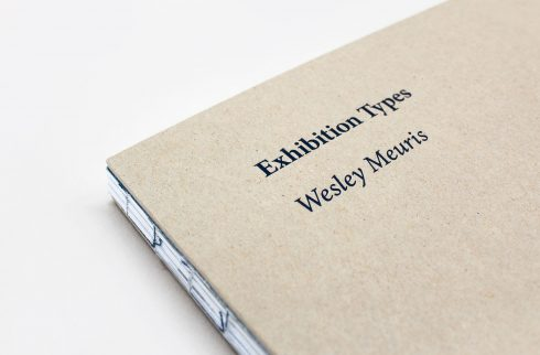 Wesley Meuris Exhibition Types Cover Detail