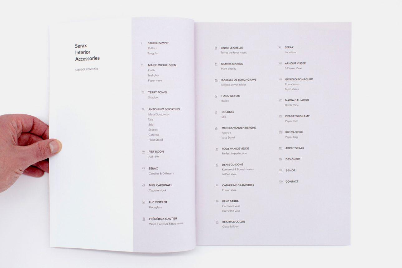 Serax Catalog Index Interior Accessories SS18